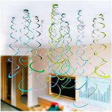 Подвесные декоративные спиральки Медальончик (уп. 6шт), фото 3