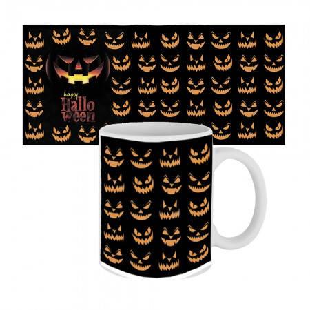 Кружка с крутым принтом 63603 Happy Halloween улыбки Джека, фото 2