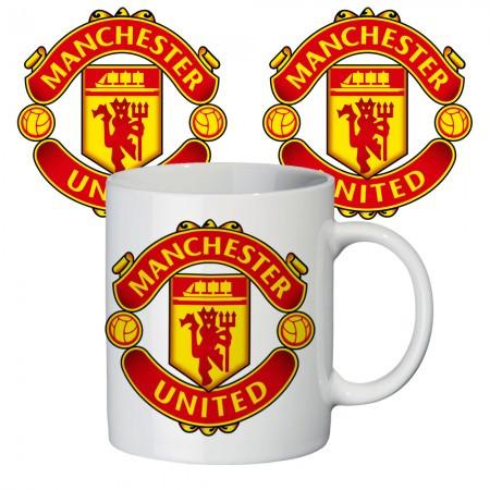 Кружка с крутым принтом 65405 ФК Манчестер Юнайтед