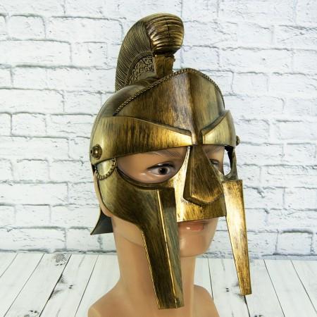 Шлем Максимуса из фильма гладиатор пластиковый (золото)