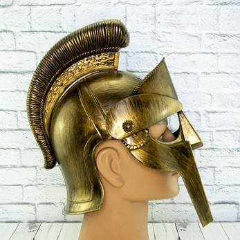 Шлем Максимуса из фильма гладиатор пластиковый (золото), фото 2