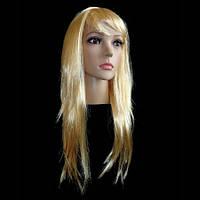 Парик из искусственных волос ровный (блонд)