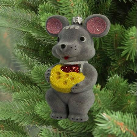 Новогоднее декоративное украшение для дома Мышонок 9312, фото 2