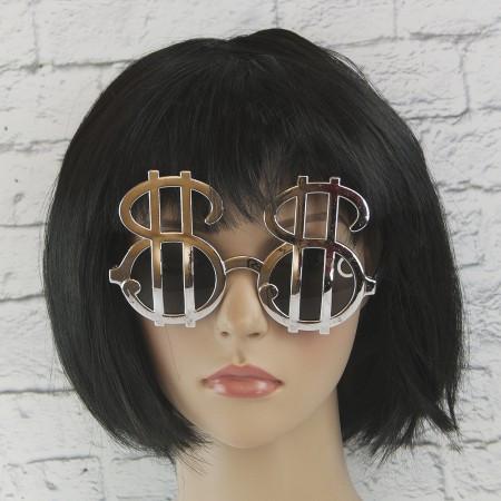 Оригинальные очки в форме долларов (серебро)