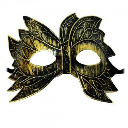 Карнавальные маски пластиковые  Инкогнито (золото), фото 2
