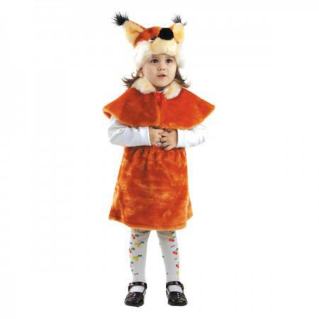 Карнавальный новогодний костюм  меховой Белка (размер М), фото 2