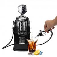 Дозатор для алкогольных напитков заправочная колонка с двумя кранами (черная)