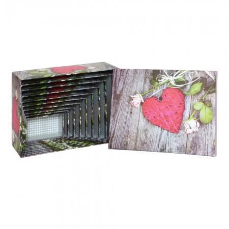 Красивая подарочная коробка ВZ-1815 (набор 10шт), фото 2