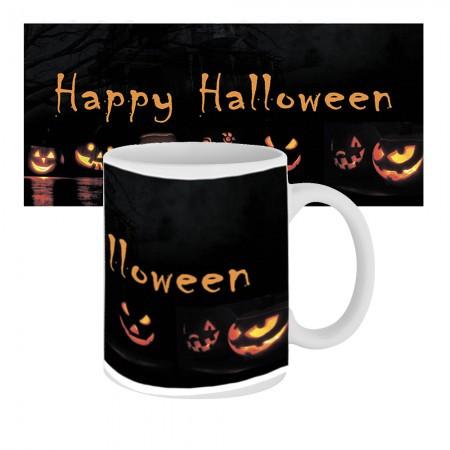 Кружка с крутым принтом 63604 Happy Happy Halloween Тыквы