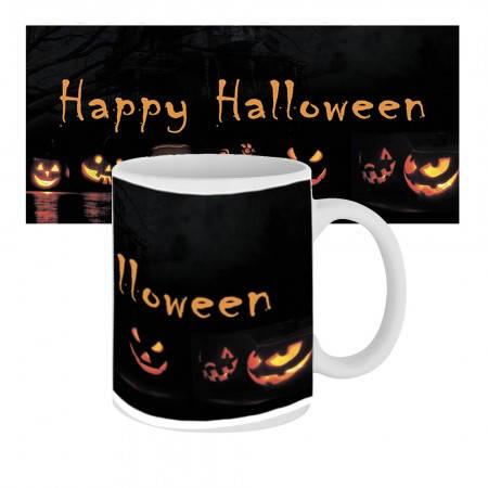 Кружка с крутым принтом 63604 Happy Happy Halloween Тыквы, фото 2