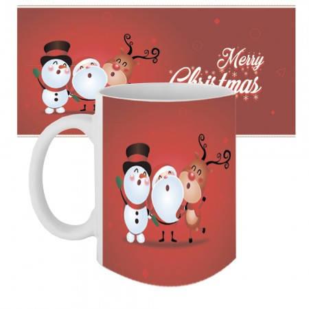 Кружка с крутым принтом 63606 Веселого рождества, фото 2