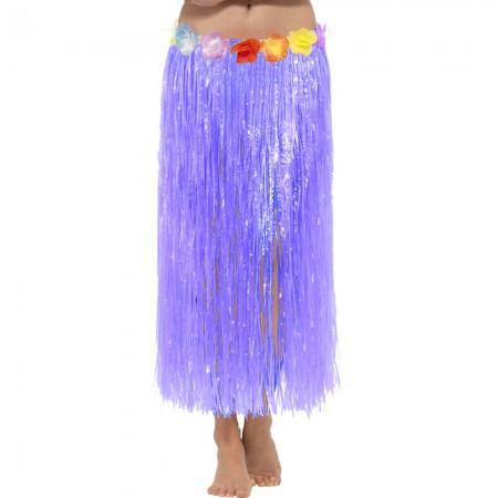 Юбка Гавайская хула для вечеринки (75см) фиолетовая