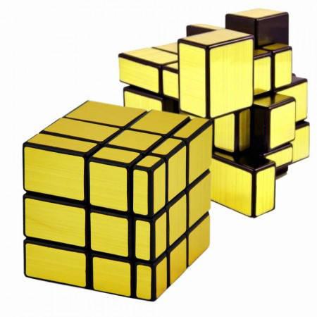 Логическая игра кубик рубик 3х3х3 Зеркальный (золото), фото 2