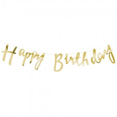 Фольгированая гирлянда на день рождения (золото), фото 2