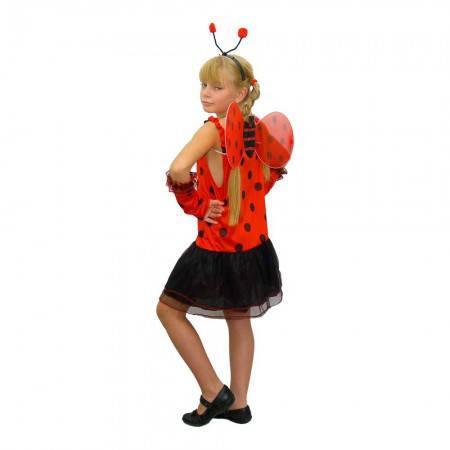 Карнавальный новогодний костюм  Божья коровка (размер 7-10лет), фото 2