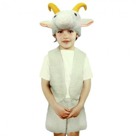 Карнавальный новогодний костюм  меховой Козленок (размер L)