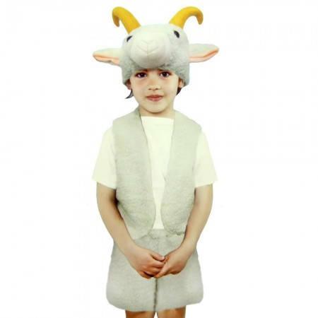 Карнавальный новогодний костюм  меховой Козленок (размер L), фото 2