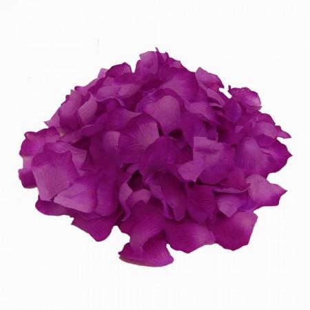 Набор лепестков роз для осыпания  (уп. 120шт) баклажановые