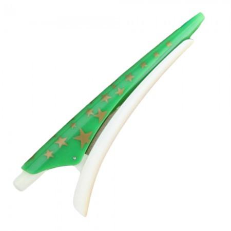 Оригинальная ручка в форме заколки для волос (зеленая)