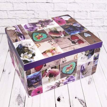 Красивая подарочная коробка ВZ-2222 Лаванда (набор 10шт), фото 2