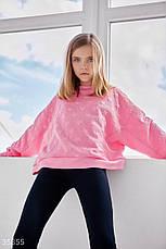 Трендовый розовый свитшот для девочки, фото 3