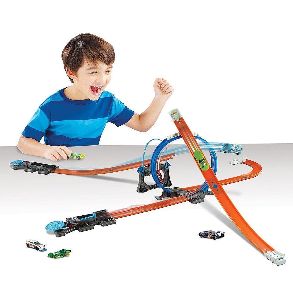 Hot Wheels Многовариантный переносной трек Track Builder Starter Kit