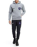 Футбольный костюм Сборной Франции, France, Найк, Nike, с капюшоном, серо-черный