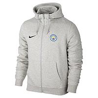 Футбольная кофта, толстовка клубная, кофта Манчестер Сити Найк, Manchester City, Nike, с капюшоном, белая