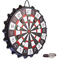 Мишень для игры в дартс магнитная с крышками BOTTLE CAP A002P (d-39см, в комплекте 10 крышек)