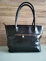 Vera Pelle made in Italy Супер женская кожаная сумка черная дорожная, фото 2