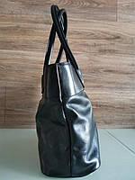 Vera Pelle made in Italy Супер женская кожаная сумка черная дорожная, фото 4