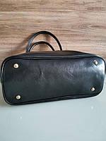 Vera Pelle made in Italy Супер женская кожаная сумка черная дорожная, фото 5