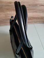 Vera Pelle made in Italy Супер женская кожаная сумка черная дорожная, фото 7