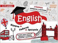 Англійська мова 1-4 кл Довідник у наліпках Стікербук