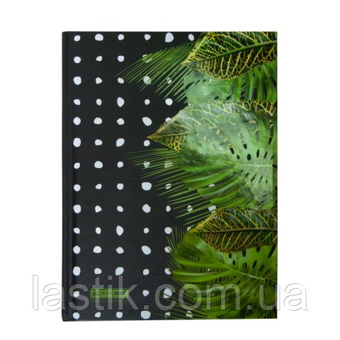 Записная книжка FLORISTICA, А5, 96 л., клетка, твердая картонная обложка, салатовая