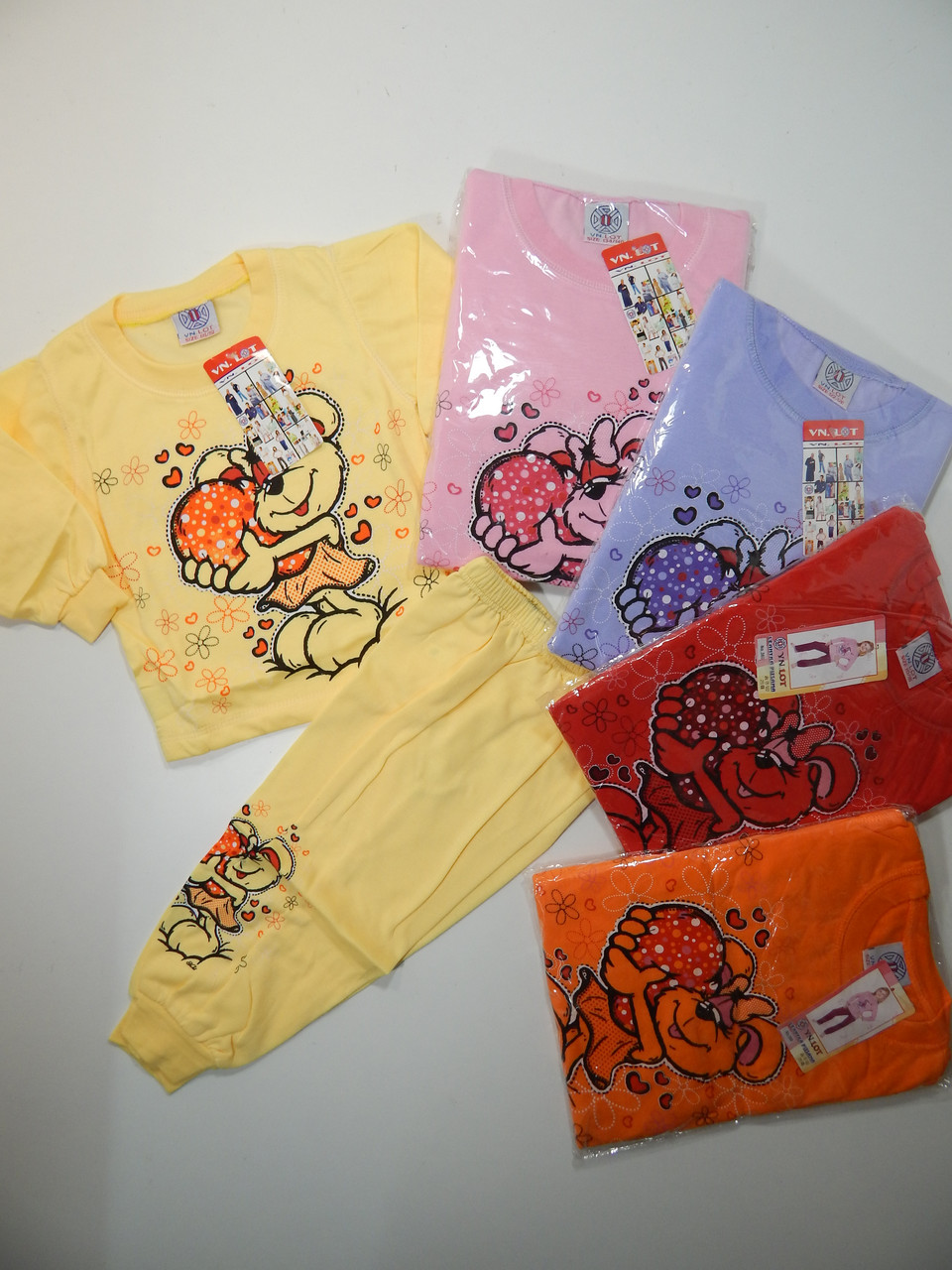 Пижама трикотажная с начёсом, размеры 86/92-134/140, арт. 360