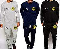 Футбольный костюм Боруссия, Borussia, Puma, Пума, серый, синий, черный