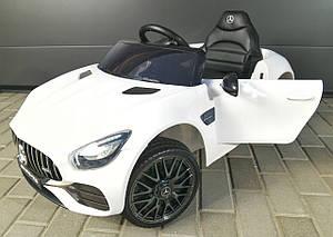 Детский электромобиль M 4062 EBLR-1, Mercedes AMG GT, mp3, EVA, Кожаное сиденье, белый