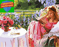 Картина по номерам Девушка с книгой 40*50см Rainbow Art GX7195 Розпис по номерах
