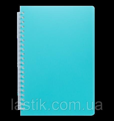 Тетрадь для записей FRESH, L2U, А5, 60 л., нелинов., бирюзовая, пласт.обложка