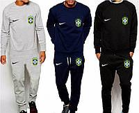 Футбольный костюм сборной Бразилии, Brazil, Nike, Найк, серый, синий, черный