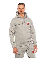 Футбольный костюм Arsenal, Арсенал, Puma, Пума, серый, с капюшоном