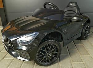 Детский электромобиль M 4062 EBLR-2, Mercedes AMG GT, mp3, EVA, Кожаное сиденье, черный