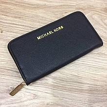 Большой кошелек реплика Майкл Корс на молнии   МК PU-кожа (0806) Черный