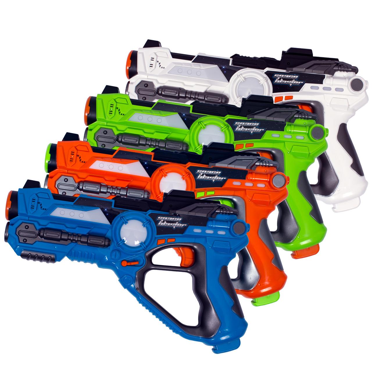 Набор из четырех интерактивных пистолетов для игры лазертаг GRAY STARLING