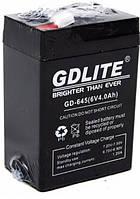 Аккумулятор для торговых весов светильников систем бесперебойного питания фонарей и бытовых приборов 6V 4A GDLITE GD-645