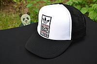 Кепка Тракер Adidas, кепка Адидас черная с белым лбом