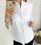 Стильная женская однотонная рубашка 26-260, фото 2