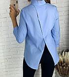 Стильная женская однотонная рубашка 26-260, фото 7