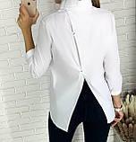 Стильная женская однотонная рубашка 26-260, фото 10